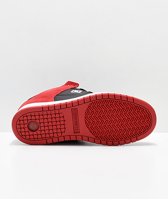 DC Manteca Red & White Skate Shoes