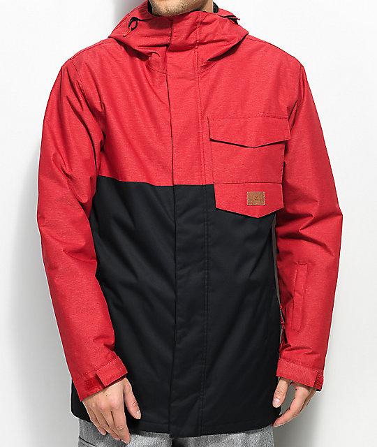 b0b19a2c37b DC Merchant 10K chaqueta de snowboard en rojo y negro ...