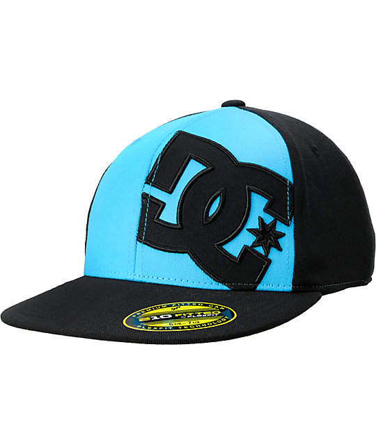DC Next Level Black   Turquoise Flexfit Hat  227324b063c
