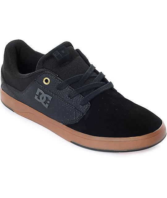 DC Plaza TC Black & Gum Skate Shoes ...