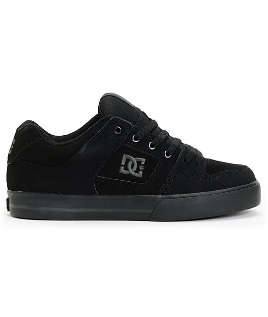 DC Pure All Black Skate Shoes