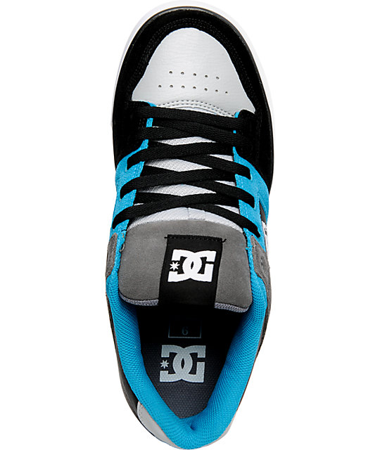 DC Pure Black, Blue & Battleship Shoes