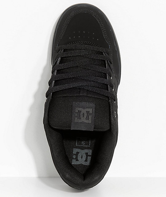 DC Pure Black & Pirate Black Skate Shoes