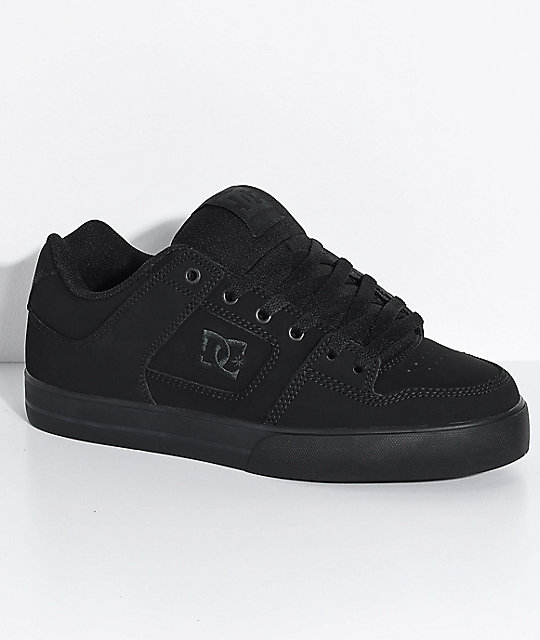 DC Pure Black & Pirate Black Skate Shoes ...