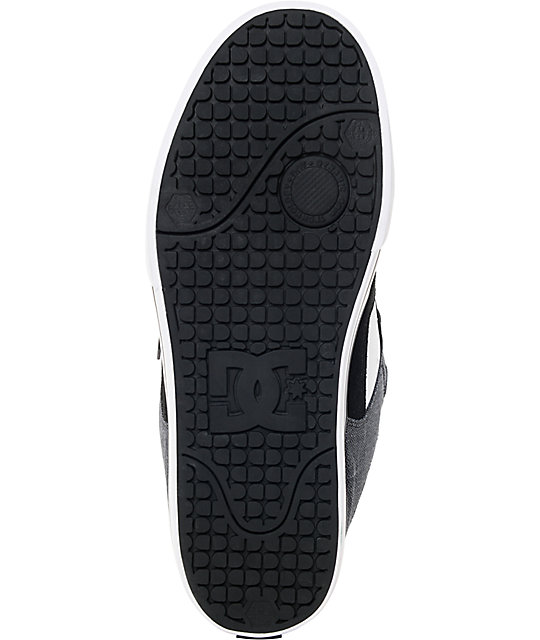 DC Pure SE Black, White, Suede & Textile Skate Shoes