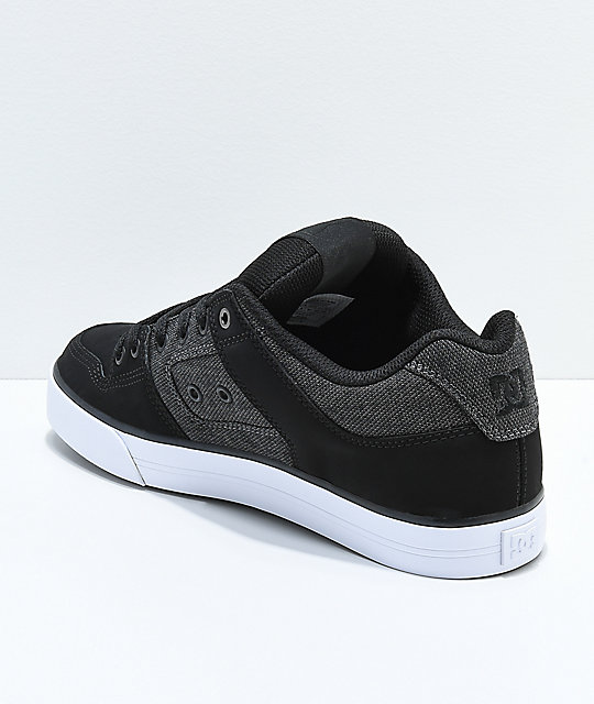 DC Pure SE Black & Dark Grey Skate Shoes