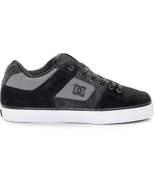 Dc Skateboard Shoes Pure Se Black Destroy Wash Size 10 wE6dJb