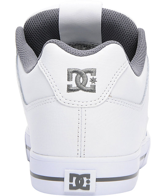 DC Pure White & Battleship Skate Shoes