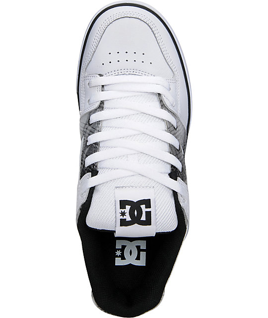 DC Pure XE White & Black Skate Shoes