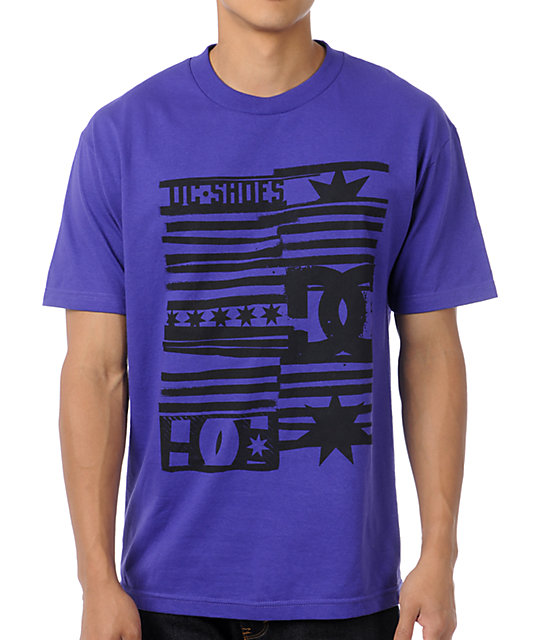 DC Roll Up Purple T-Shirt