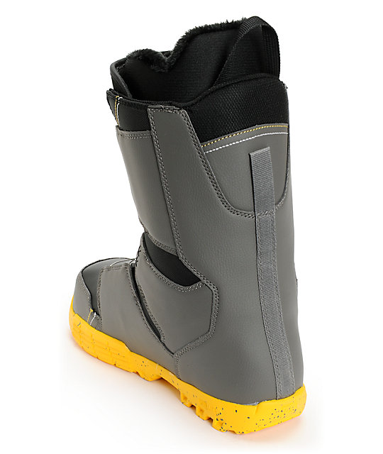 DC Scout Grey & Yellow Snowboard Boots