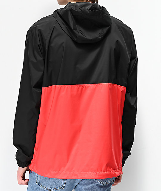 DC Sedgefield 2 Black & Red Anorak Jacket