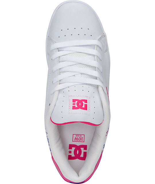 DC Shoes Pixie I Heart White, Crazy Pink & Silver Shoes
