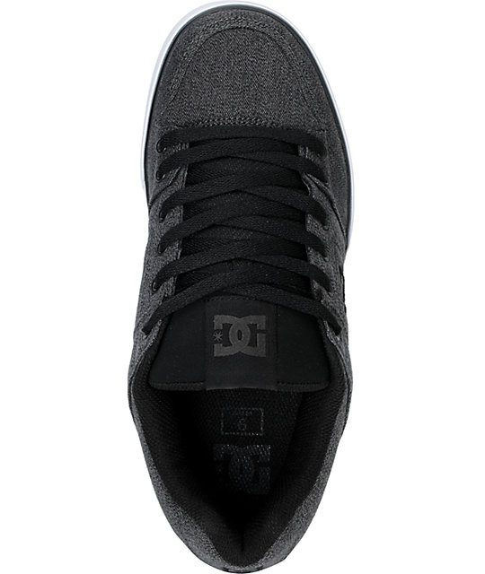 DC Shoes Pure Battleship Grey Skate Shoes