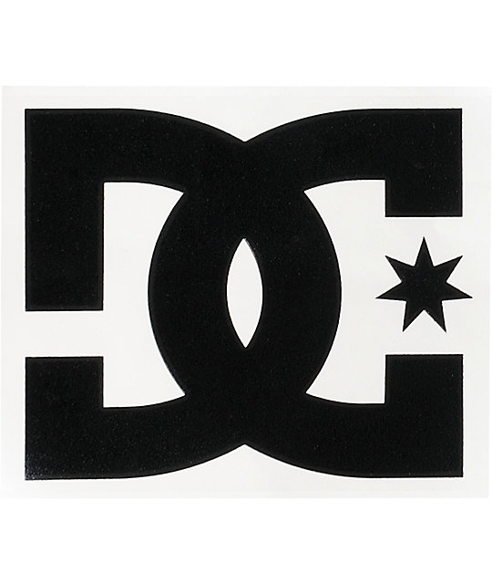DC Shoes Star Black Die Cut Sticker