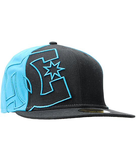 DC Side Swipe Black New Era Fitted Hat  7521cc14464