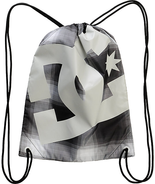 DC Simpski Black Drawstring Bag