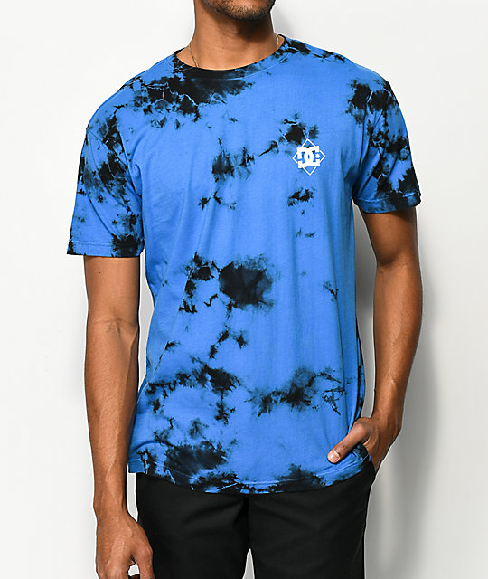 DC Single Star camiseta tie dye azul ... e73a709ecec49