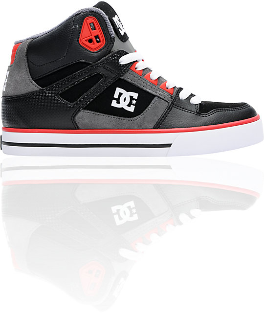 DC Spartan Hi Black & Red Skate Shoes
