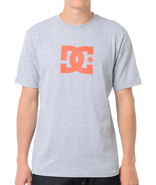 DC Star Grey & Orange T-Shirt