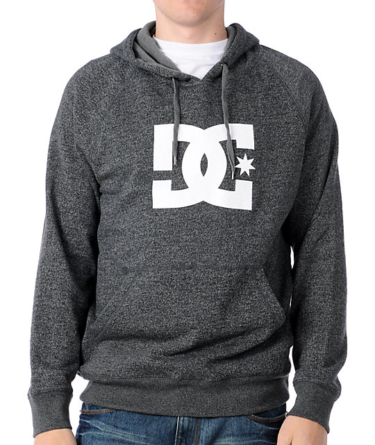 DC Star Logo Heather Charcoal Pullover Hoodie