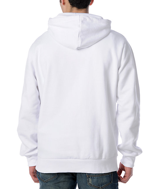 DC Star White Pullover Hoodie