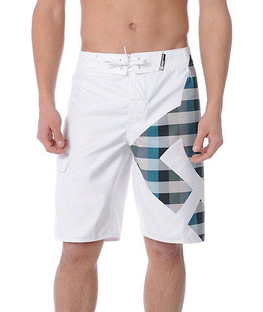 DC Stock 2 White Board Shorts