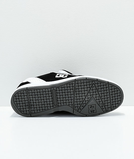 DC Syntax Black & White Skate Shoes
