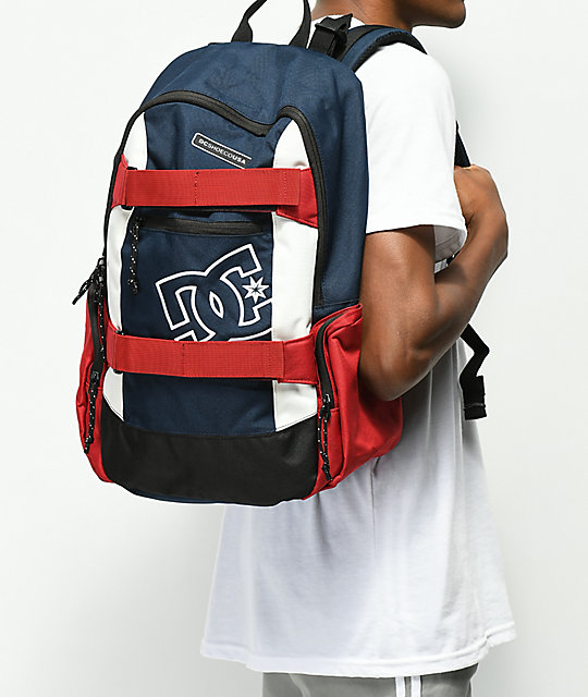 DC The Breed Navy, Red and White Medium Backpack