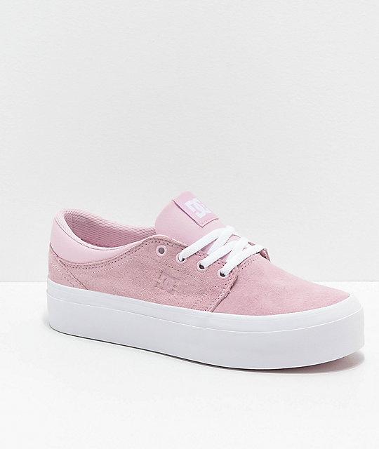 finest fabrics exceptional range of colors durable modeling DC Trase SE Pink & White Platform Shoes
