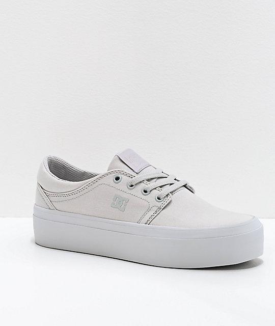 free shipping Good Prices fair price DC Trase TX Grey Platform Shoes