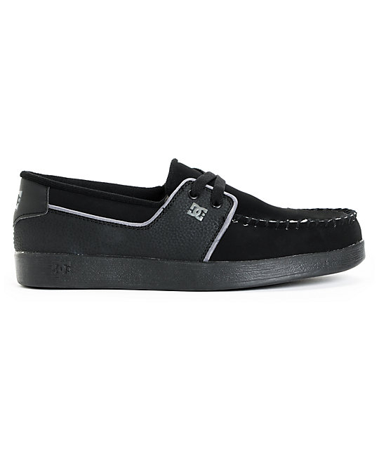 DC Trouble Black, Black, & Grey Slip On Shoes