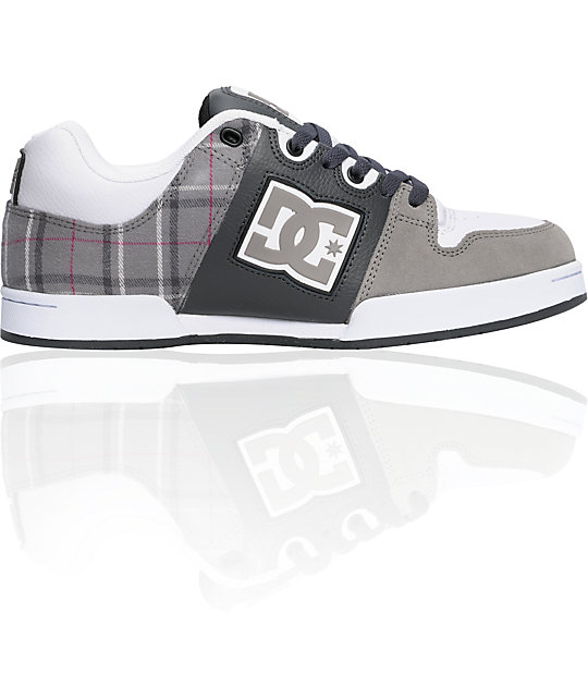 DC Turbo 2 Dark Shadow & Plaid Shoes