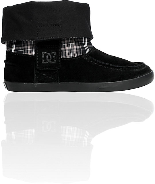 DC Twilight Black & Silver Plaid Boot