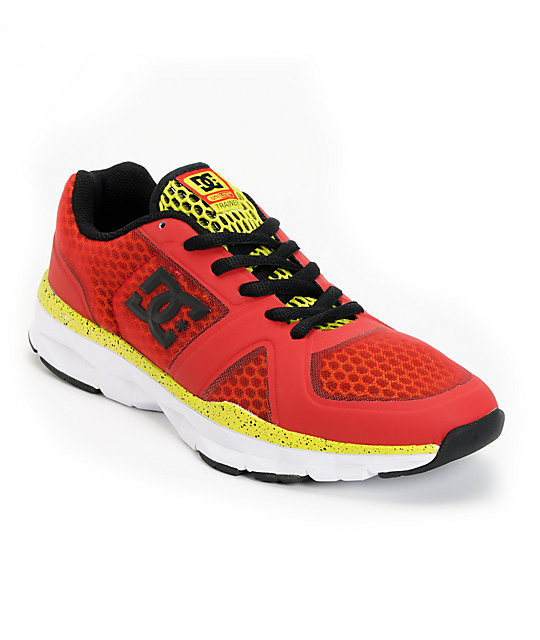 DC Unilite Trainer Athletic Red & White Shoes