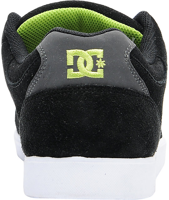 DC Union Black & Lime Green Skate Shoes