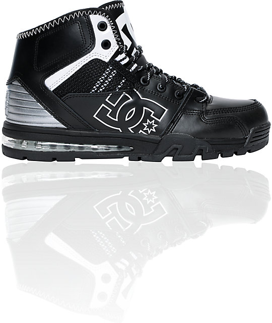 DC Versatile High Black & White WR Water Resistant Shoes