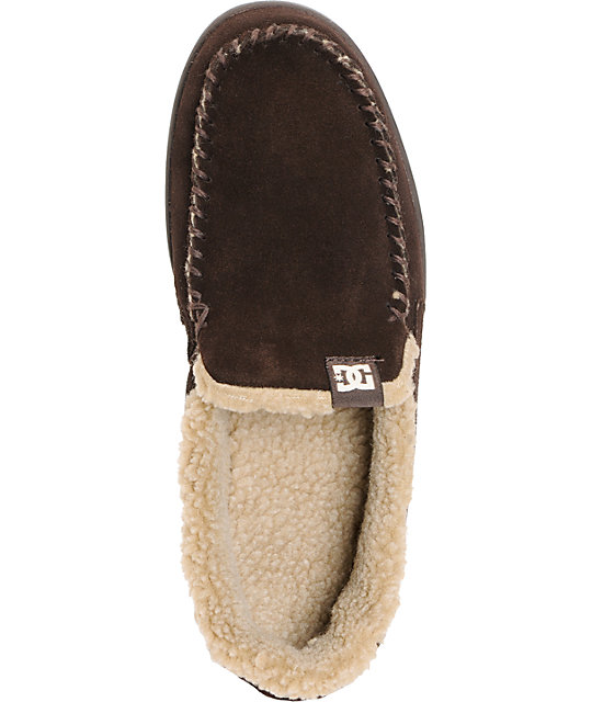 DC Villain LE Chocolate Suede Slippers