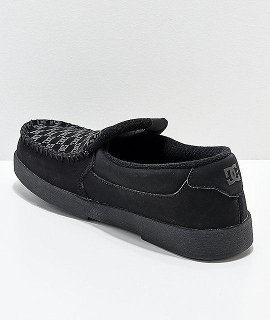 DC Villain Print Black Slip-On Shoes