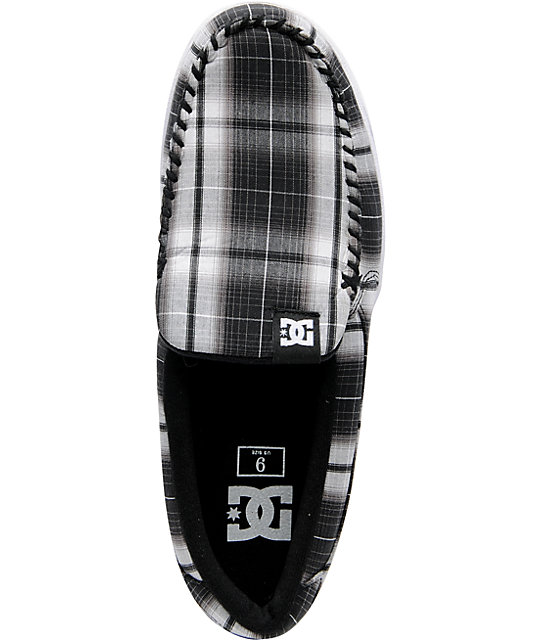 DC Villain TX Black Plaid Slippers