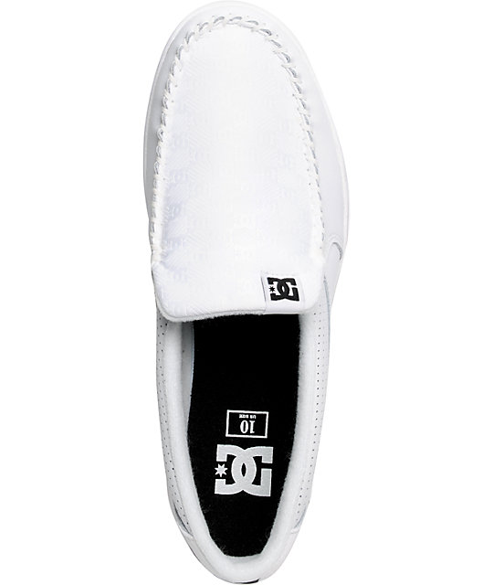 DC Villain White & Jacquard Slippers