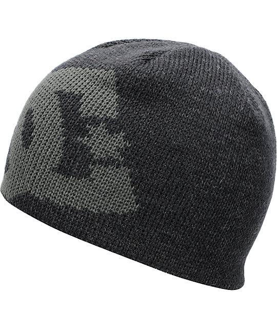 DC Wane Heather Black & Charcoal Beanie