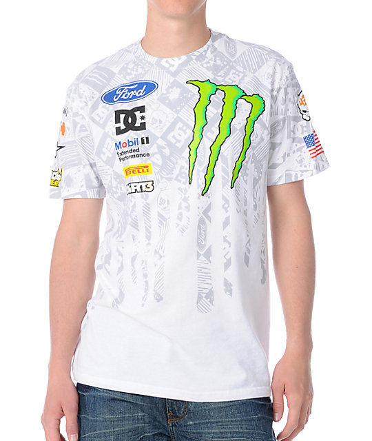 DC x Monster Ken Block Banked White T-Shirt