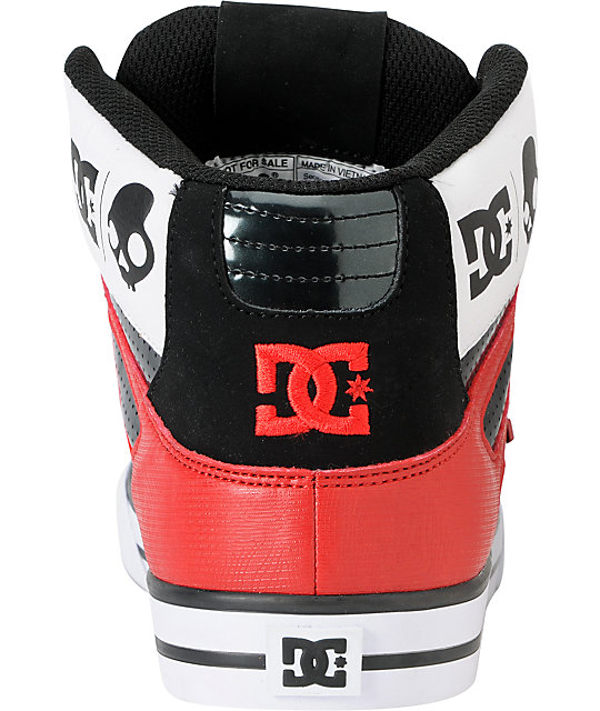 DC x Skullcandy Spartan Hi WC Black & Red Shoes