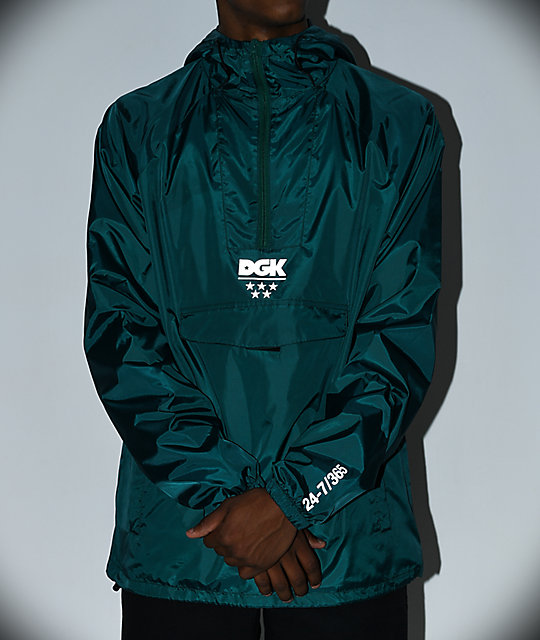 DGK 24/7 Green Windbreaker Jacket