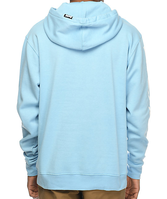DGK 40 Oz Custom Light Blue Hoodie