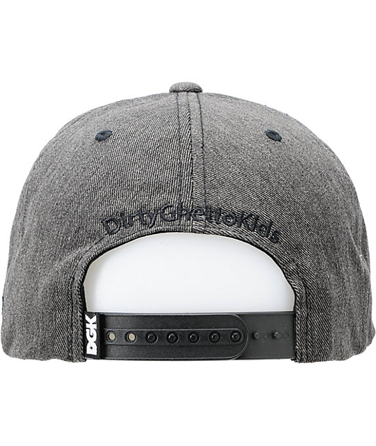 DGK All Day Black Chambray Snapback Hat