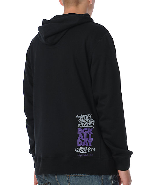 DGK All Day Black Plaid Pullover Hoodie