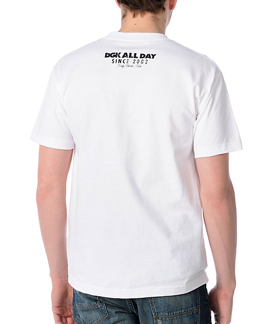 DGK All Day Faded White T-Shirt