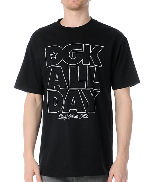 DGK All Day Outline Black T-Shirt
